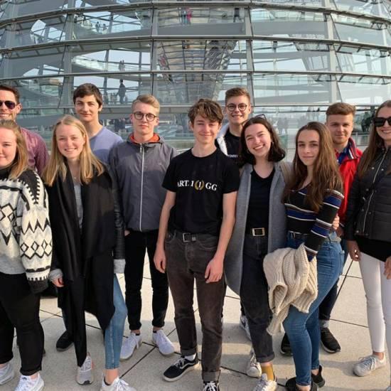 Der Sozialkunde-Leistungskurs 12 auf politischer Bildungsexkursion in Berlin